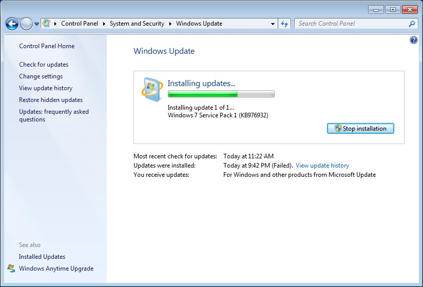 The Fix ? for Windows Update hanging on Windows 7  Jed39;s
